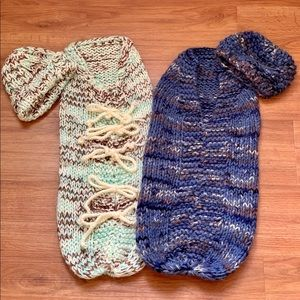 Swaddle set of 2 with matching hats photo props